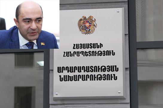 Արդարադատության նախարարությունը մերժել է ԼՀԿ առաջարկը՝ հարկադիր կալանքի տակ դրված միջոցները կոմունալ ծառայությունների դիմաց օգտագործելու վերաբերյալ