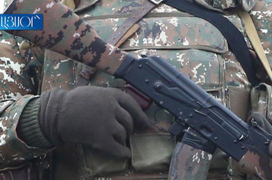 Вследствие обстрела со стороны противника ранен армянский военнослужащий