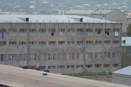 Five employees of Vardashen penitentiary security staff test positive for COVID-19