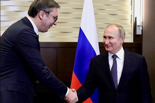 Սերբիայի նախագահը շնորհակալություն է հայտնել Վլադիմիր Պուտինին կորոնավիրուսի դեմ պայքարում օգնության համար