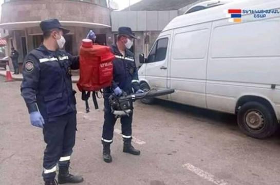 В Арцахе 7-8 апреля продезинфицированы 134 транспортных средств