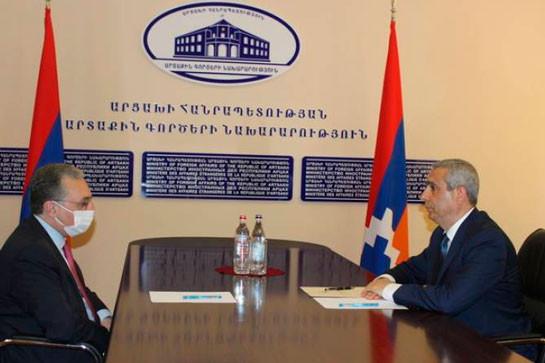 Главы МИД Армении и Арцаха обсудили процесс мирного урегулирования карабахского конфликта