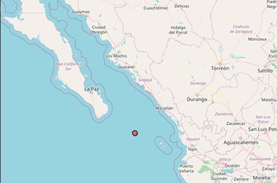 У берегов Мексики произошло землетрясение магнитудой 6,1