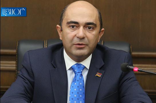 Bright Armenia to advance its agenda despite pressures: Edmon Marukyan