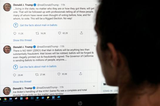 Трамп заявил, что допускает возможность закрытия Twitter