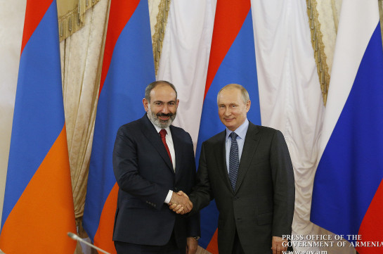 In phone conversation with Russian president Armenia's PM  expressed hope to recover soon to attend June 24 celebrations in Moscow