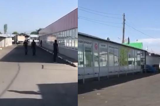 Полицейские провели ночью спецоперацию на рынке «Меймандар», есть задержанные