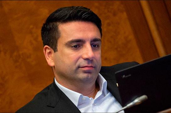 Действия против лидера партии «Процветающая Армения» не имеют политического подтекста, политическое решение не принималось – Ален Симонян