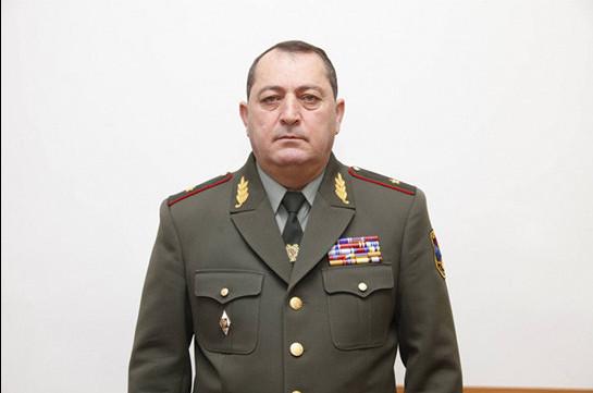 Комитас Мурадян освобожден от должности первого заместителя начальника оперативного управления Генштаба ВС Армении