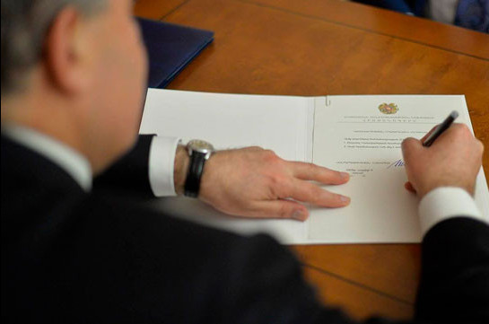 Armenia's President signs package of bills on Constitutional amendments into law