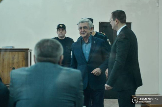 Serzh Sargsyan and other's criminal case court session postponed
