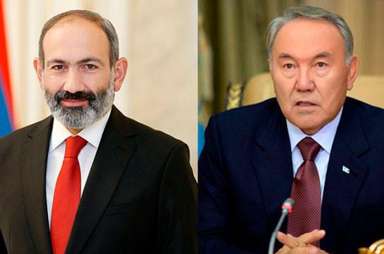 Никол Пашинян направил поздравительное послание Нурсултану Назарбаеву по случаю 80-летнего юбилея