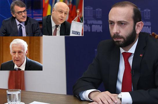 Armenia's NA speaker sends letters EP President David Sassoli, PACE President Hendrik Daems and OSCE PA Chairman-in-Office Georgy Tsereteli