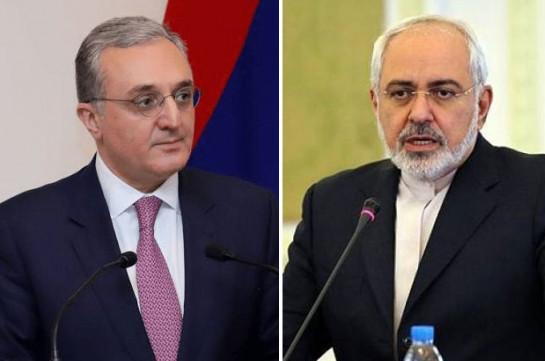 Armenian, Iranian FMs discuss situation on Armenian-Azerbaijani border