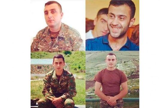 Четверо военнослужащих ВС Армении посмертно награждены медалями