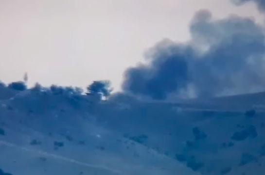 Armenia's Armed Forces hit Azerbaijani tank, destroy firing positions (video)