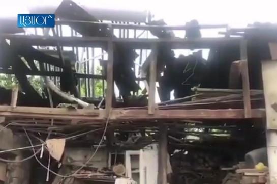 В результате огня со стороны ВС Азербайджана разрушен хлебобулочный цех и дом в селе Чинари Тавушской области Армении (Видео)