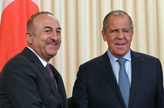 Lavrov, Cavusoglu discuss recent escalation on Armenian-Azerbaijani border