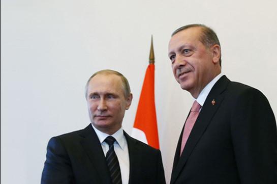 Putin, Erdogan discuss situation on Armenian-Azerbaijani border