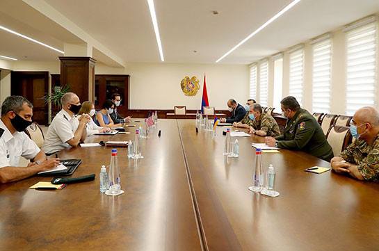 Chief of General of Staff of Armenian Armed Forces meets U.S. Ambassador to Armenia
