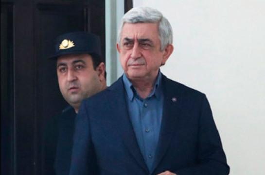 Դատարանն անհարգելի համարեց Սերժ Սարգսյանի բացակայությունը․ նիստը հետաձգվեց