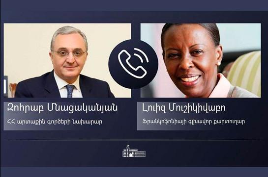 Զոհրաբ Մնացականյանն ու Լուիզ Մուշիկիվաբոն քննարկել են Լիբանանին հումանիտար աջակցության տրամադրմանն առնչվող հարցեր