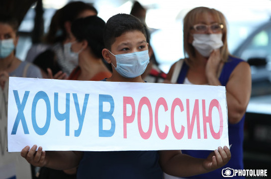 Citizens wishing to depart to Russia demand from authorities start negotiations with Russian side over opening the borders