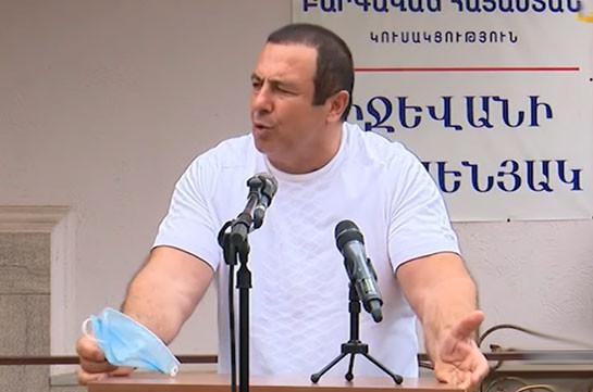 Гагик Царукян: Перед зданием правительства каждый день акции протеста, ситуация – ужасная