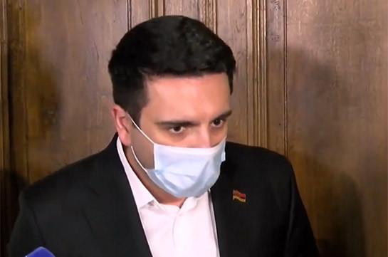 Считаю это нелогичным – Ален Симонян исключает возможность избрания Грайра Товмасяна председателем КС