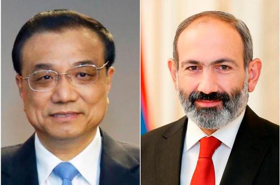 """Bilateral cooperation is developing harmoniously"" - PRC State Council Premier Li Keqiang congratulates Nikol Pashinyan"