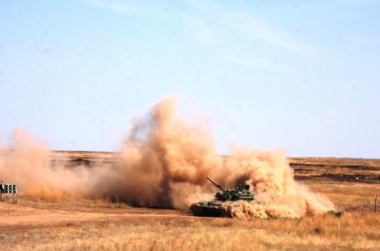 Танкисты и артиллеристы ЮВО и МО Армении провели боевые стрельбы в рамках СКШУ «Кавказ-2020» на полигоне «Алагяз»