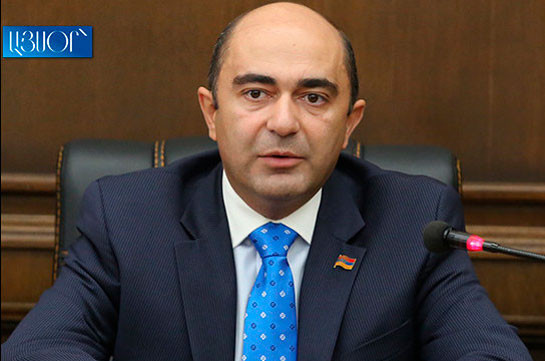 """Marukyan: Armenia's PM should give clarifications to NA regarding exchange of """"confidential"""" information in sidelines of negotiations with Azerbaijan"""