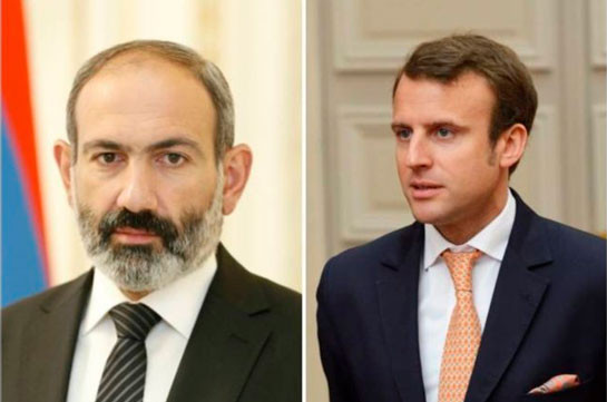 Armenia's PM tells France's President Macron about necessity to halt Turkey's possible interference