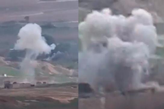 Широкомасштабная бронетанковая атака ВС Азербайджана на южном направлении пресечена (Видео)