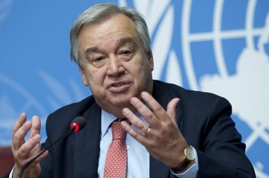 Генсек ООН призвал Алиева прекратить боевые действия в Карабахе