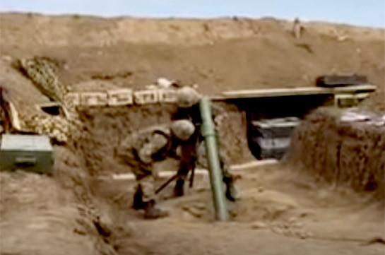 Արցախի պատասխան կրակը Ադրբեջանի ԶՈՒ-ի ուղղությամբ (Տեսանյութ)