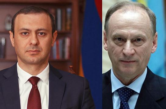 Секретари СБ Армении и России обсудили ситуацию в зоне карабахского конфликта