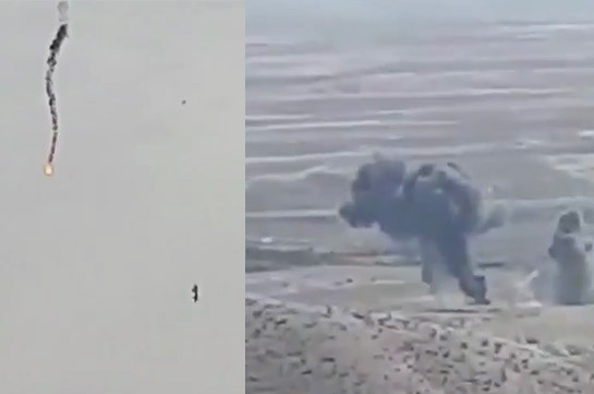 Armenian side hits another UAV of the enemy (video)