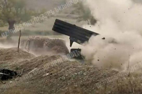 Artsakh Defense Army artillerymen: Footage from frontline (video)