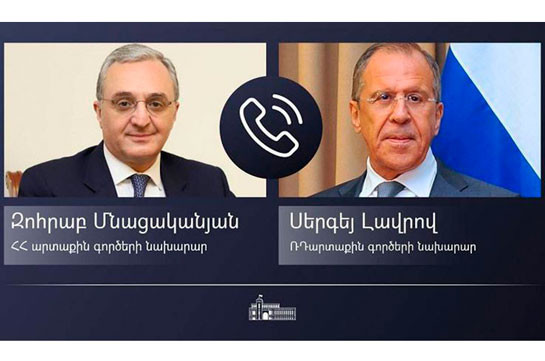 Armenian, Russian FMs consider inadmissible steps by non-regional countries aimed at undermining peace and security in the region