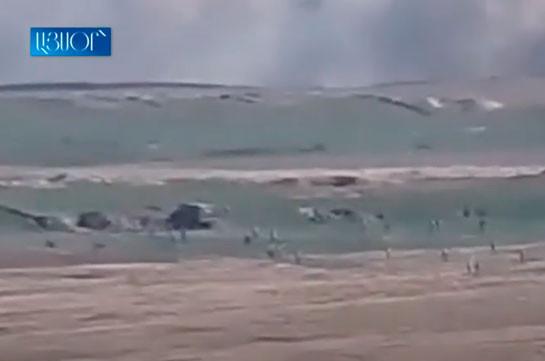 Karabakh army takes control of Azerbaijan's position (video)