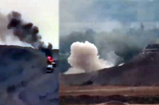 Armenian side continues destroying Azerbaijan's armed forces (video)