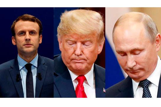 Путин, Трамп и Макрон призвали Армению и Азербайджан прекратить боевые действия и возобновить переговоры