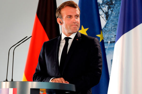 Macron states about about participation of Syrian Islamists in hostilities in Karabakh