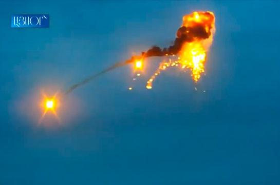 Уничтожение азербайджанского беспилотника (Видео)