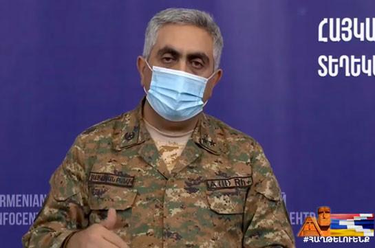 Потери ВС Азербайджана составляют более 300 человек, 11 единиц бронетехники, 2 вертолета, 2 БПЛА – Арцрун Ованнисян