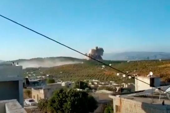 ВКС России ударили по сирийскому лагерю воюющих в Карабахе боевиков (Видео)