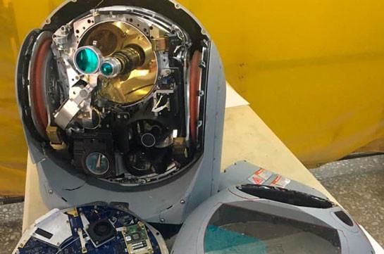 На сбитом вчера подразделением ПВО Армии обороны боевом беспилотнике Bayraktar TB2 была установлена камера L-3 WESCAM CMX-15D