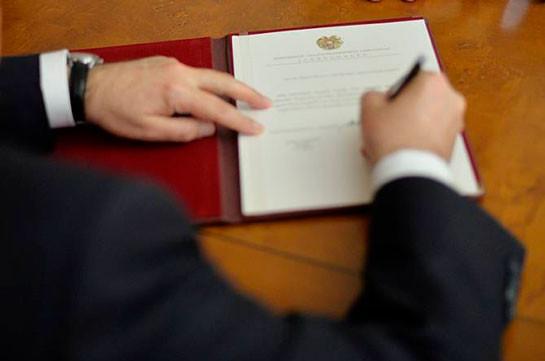 Тигран Балаян назначен по совместительству Чрезвычайным и Полномочным послом в Люксембурге