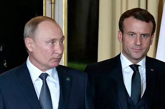 Russian, French presidents discuss situation in Karabakh conflict zone